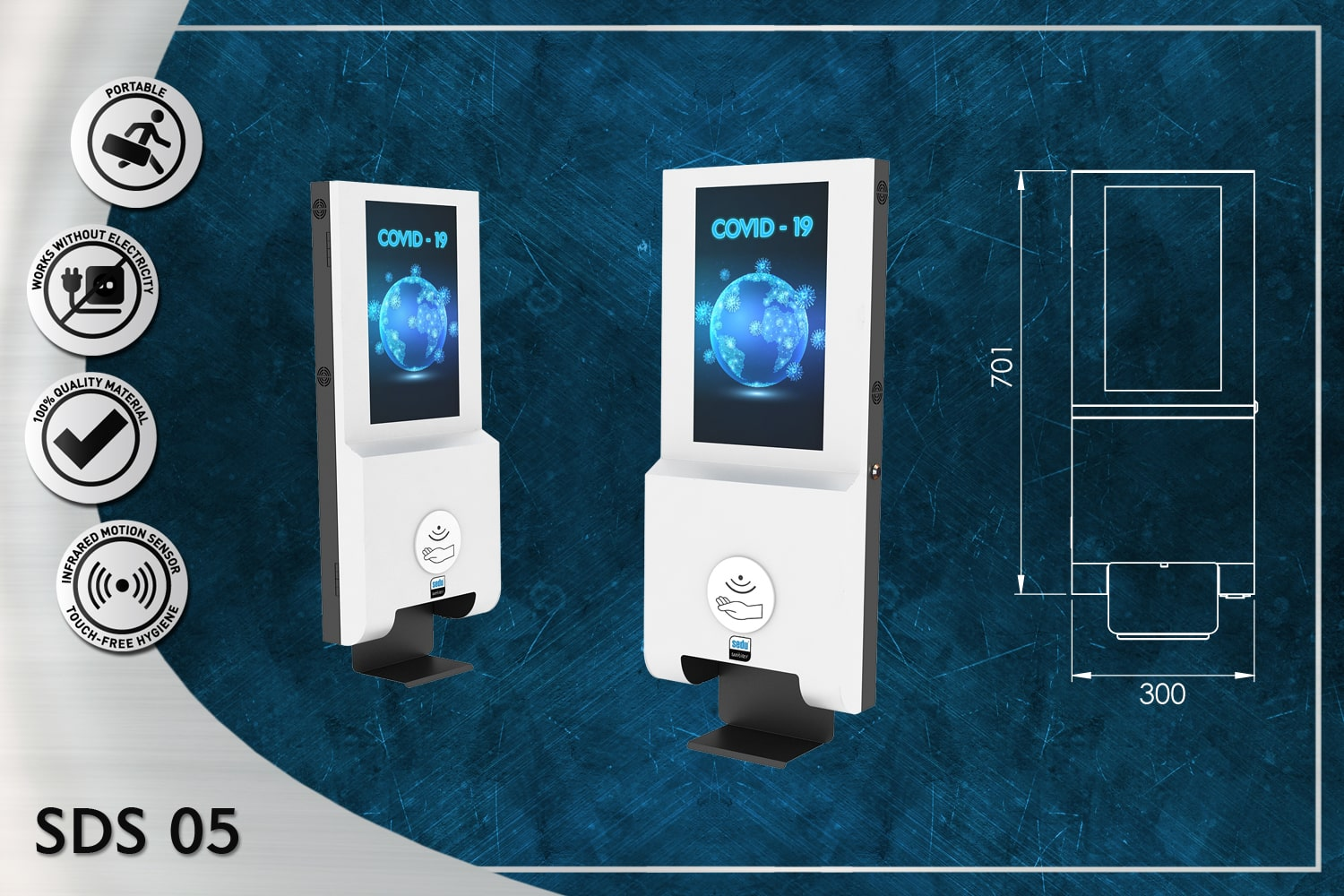 Wall Unit with Visual and Sensor Dispenser SDS-05